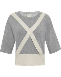 Band of Outsiders Trompe L'Oeil Sweater With Suspender-Detail - Lyst