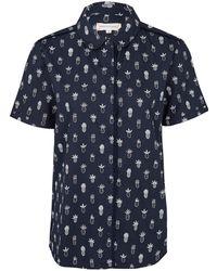 Chinti & Parker Poplin Pineapple Shirt blue - Lyst