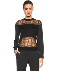 Yigal Azrouël Lace Blocked Top - Lyst