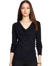 Ralph Lauren Black Label Beaded Nina Top - Lyst