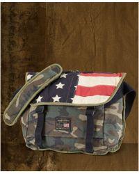 2b7d6cf8c51e Denim   Supply Ralph Lauren - Camo Flag Canvas Messenger Bag - Lyst