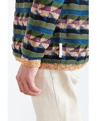 Koto - Marled Geo Pattern Crew Neck Sweater - Lyst