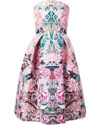 Mary Katrantzou Nevis Dress in Calligraphy Candy - Lyst