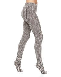 M Missoni Zigzag Ribbed Woolknit Leggings - Lyst