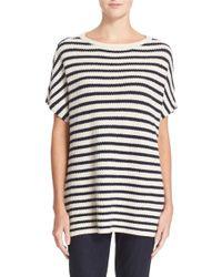 Tory Burch | Stripe Boatneck Pullover | Lyst