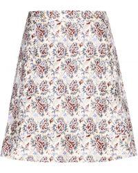 Tory Burch Karina Silk and Cottonblend Skirt - Lyst