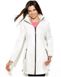 Jessica Simpson - Hooded Zipfront Coat - Lyst