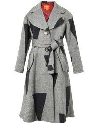 Vivienne Westwood Red Label Singlebreasted Patchwork Woolblend Coat - Lyst