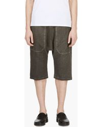 Silent - Damir Doma - Grey Drop Crotch Lounge Shorts - Lyst