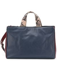 Pour La Victoire Inez Leather Cary-All Bag/Navy - Lyst