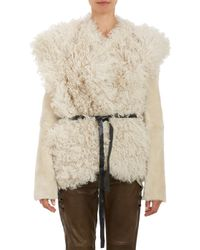 Isabel Marant Shearling  Curly Lamb Drew Jacket - Lyst