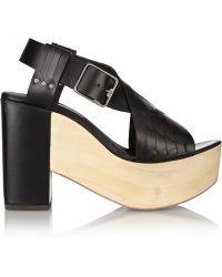 Thakoon Addition - Addition Bassy Woven Leather Platform Sandals - Lyst