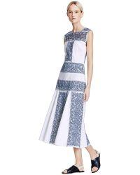 Tory Burch White Racquel Dress - Lyst