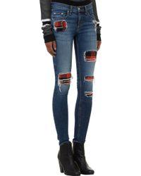 Rag & Bone Destroyed Skinny Jeans - Lyst