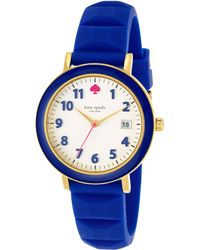 Kate Spade Womens Metro Blue Silicone Strap Watch 36mm - Lyst