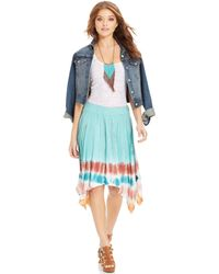 American Rag - Tiedyeprint Handkerchiefhem Skirt - Lyst