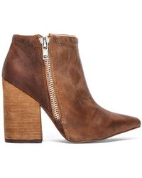 Jeffrey Campbell Truly Zip Bootie - Lyst