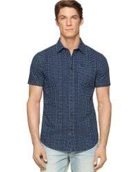 Calvin Klein Jeans Chambray Polka Dot Shirt - Lyst