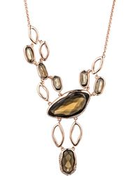 Alexis Bittar Liquid Rose Gold Infinity Bib Necklace - Lyst