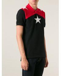 Givenchy Colour Block Polo Shirt - Lyst
