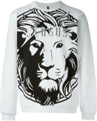 Versus  Lion Logo Sweatshirt - Lyst
