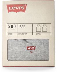 Levi's Two-pack 200 Series Tanks - Lyst