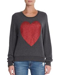 Wildfox Big Heart Sweater - Lyst