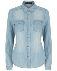 Juicy Couture Chambray Denim Shirt blue - Lyst