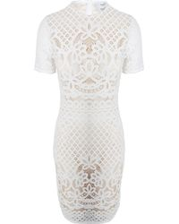 Lover Libra Fitted Dress Ivory - Lyst