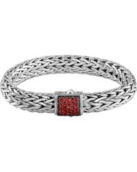 John Hardy Classic Chain 11mm Large Braided Silver Bracelet - Lyst