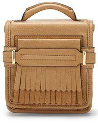 Vince Camuto 'Sofia - Small' Fringe Leather Crossbody Bag - Lyst