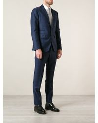 Tagliatore Checked Two Piece Suit - Lyst