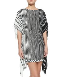 Halston Heritage Flowy-Back Kaftan Dress - Lyst