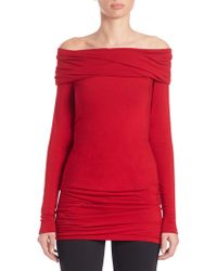 Donna Karan New York | Ruched Off-the-shoulder Top | Lyst