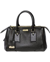 Burberry Small Gladstone Grained Leather Bag - Lyst
