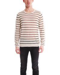 Acne Studios Colt Pullover Sweater White Stripe - Lyst
