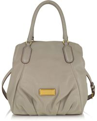 Marc By Marc Jacobs - New Q Fran Cement Leather Handbag - Lyst