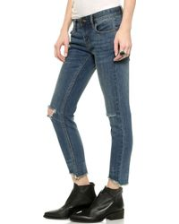 Free People Mid Rise Skinny Jeans - Tupelo Blue - Lyst