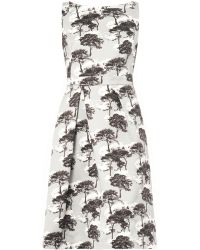 Osman Yousefzada Sky Forestprint Cotton Dress - Lyst