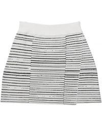 A.L.C. Led Stripe Mini Skirt white - Lyst