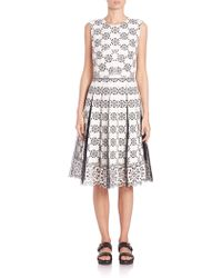 Marc Jacobs | Pleated Broderie Anglaise Dress | Lyst