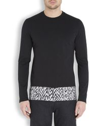 Kris Van Assche - Black Cotton Jersey Top - Lyst