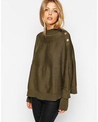 Asos Cape With Button Detail - Lyst