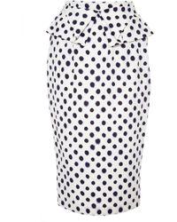 Saloni M'O Exclusive : Anabelle Embossed Taffeta Skirt multicolor - Lyst