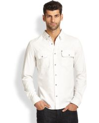 Madison Supply Double Spade Cotton Sportshirt - Lyst