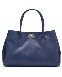 Furla New Appaloosa Saffiano Leather Tote blue - Lyst