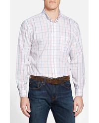 Brooks Brothers Regent Fit Tattersall Sport Shirt white - Lyst