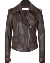 Donna Karan New York Leather Biker Jacket - Lyst
