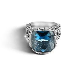 John Hardy Classic Chain Medium Braided Ring blue - Lyst