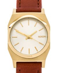 Nixon The Small Time Teller Leather - Lyst